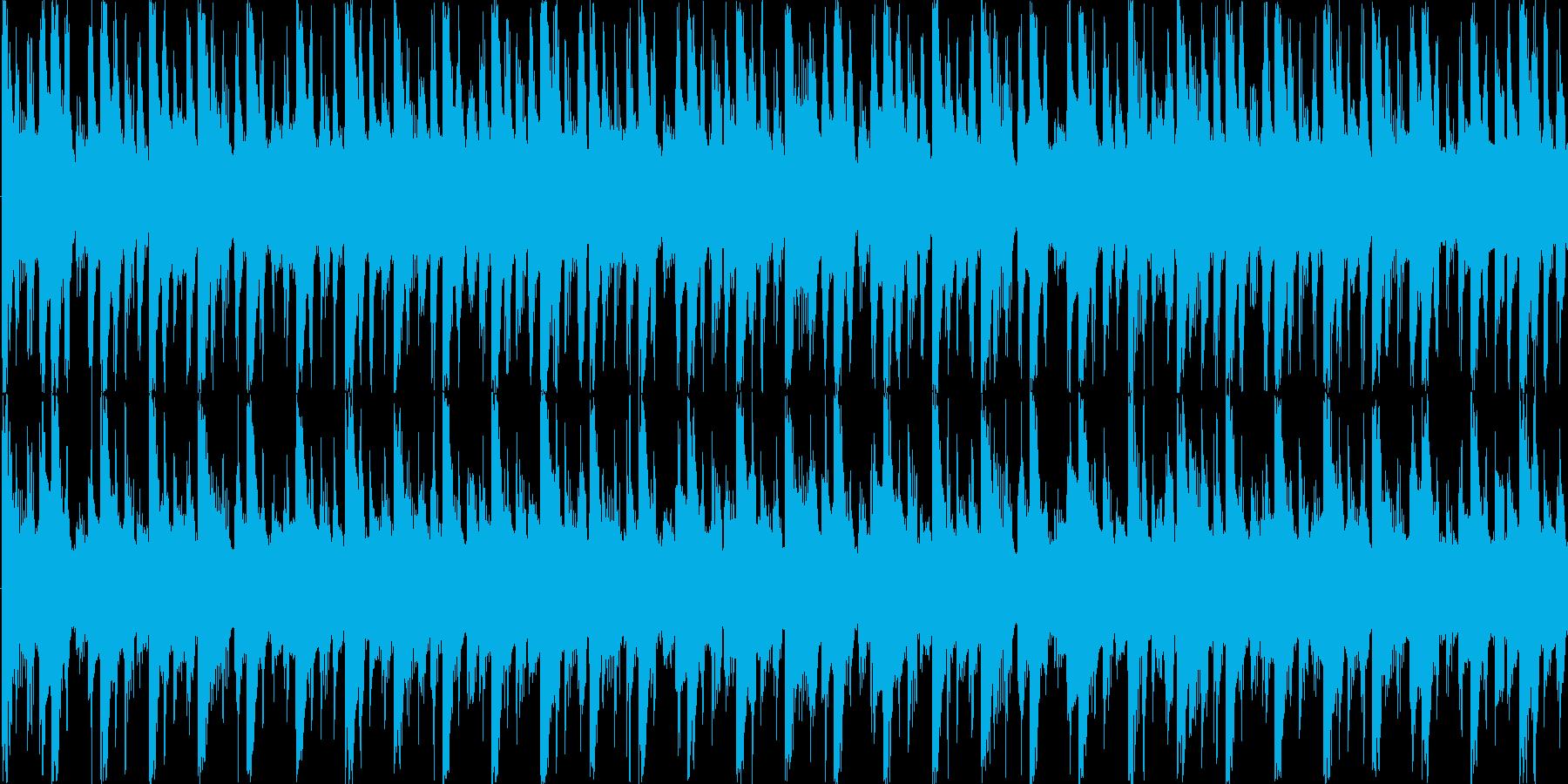 リズムを強調した楽曲です。の再生済みの波形