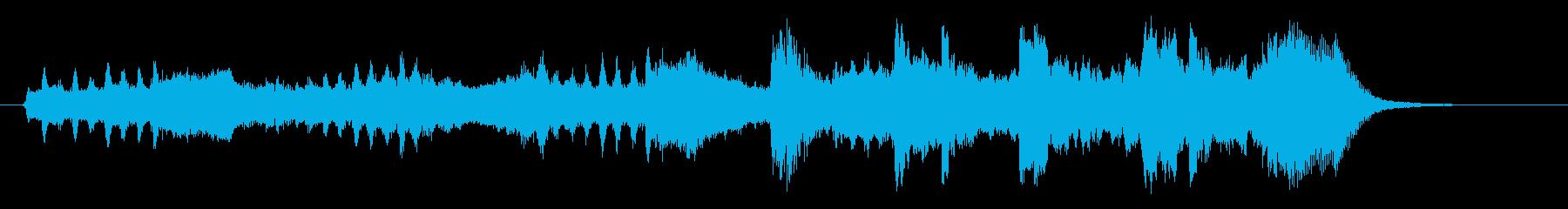 ゆったりとした和やかな音楽の再生済みの波形