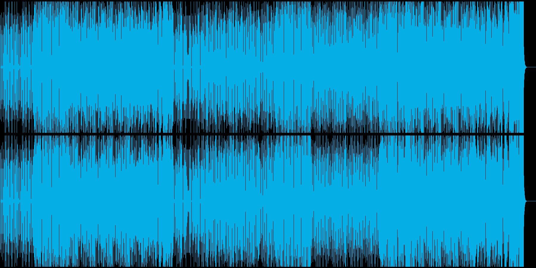 勇ましい雰囲気のビッグバンド編成ブルースの再生済みの波形