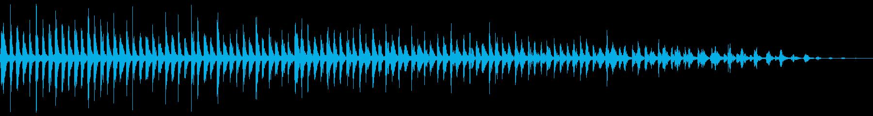 ビブラスラップの音の再生済みの波形
