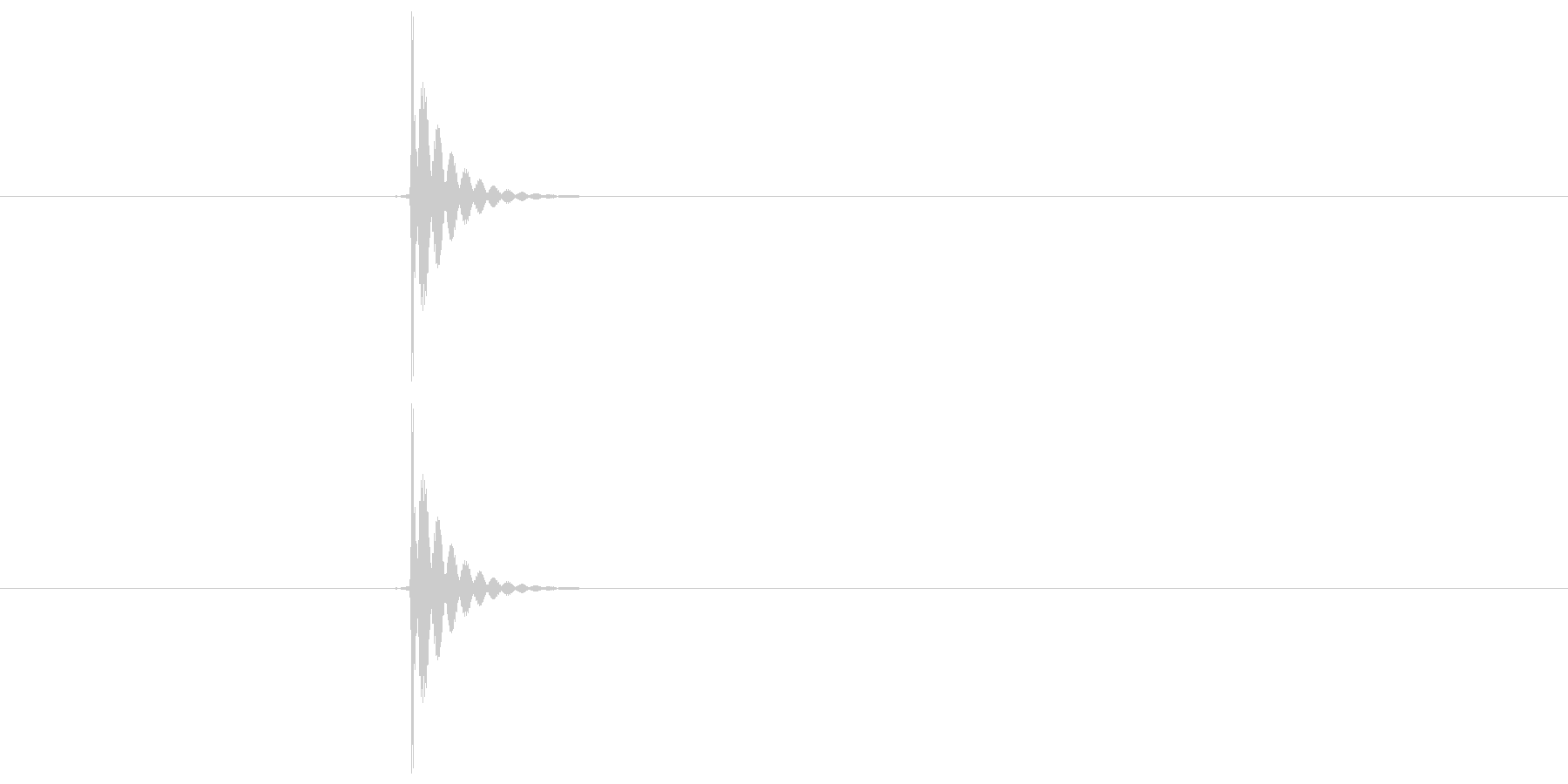 「タッ」決定やキャンセルに使えるボタン…の未再生の波形