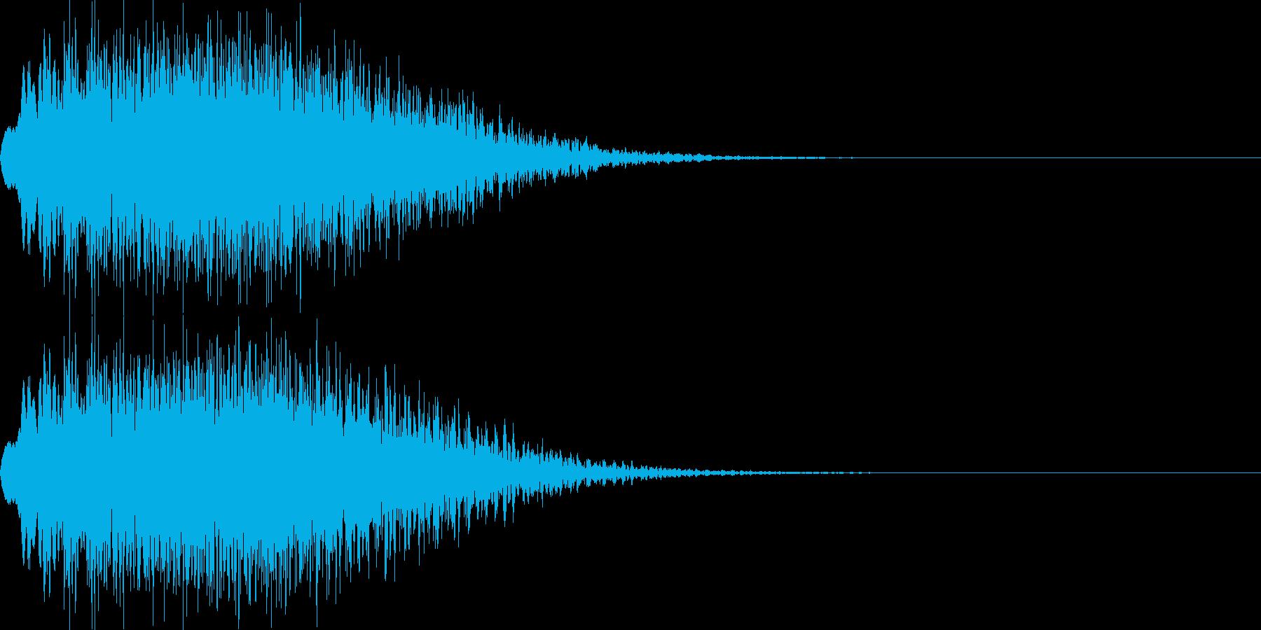 キラキラ05(下降)の再生済みの波形
