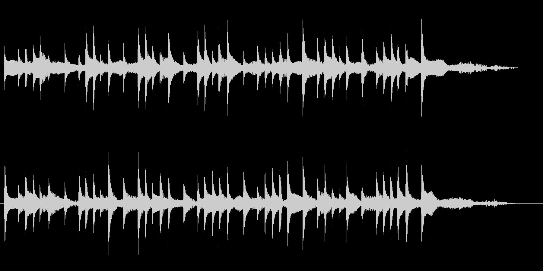 おしゃれで雰囲気がBGMの未再生の波形