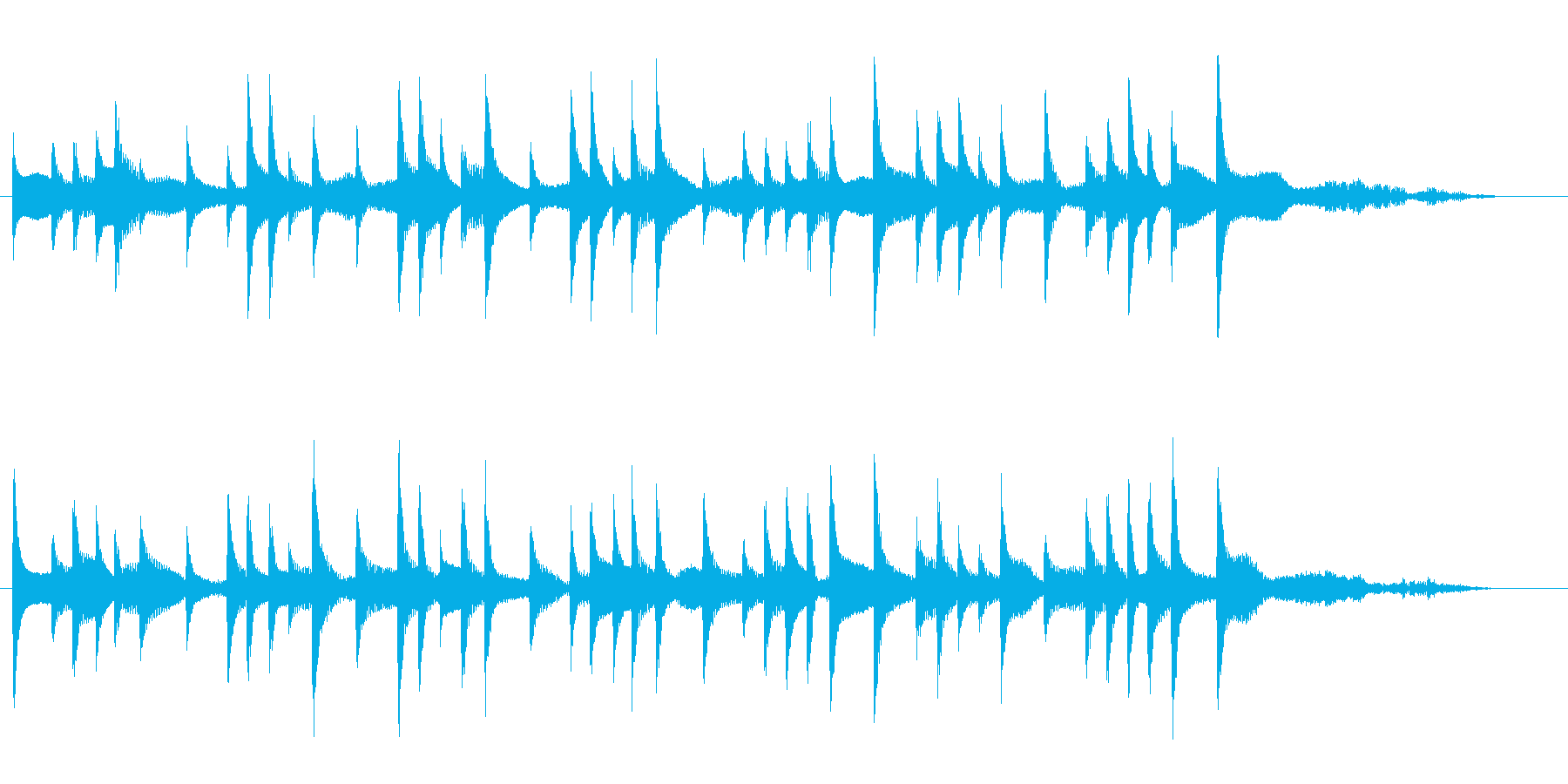 おしゃれで雰囲気がBGMの再生済みの波形