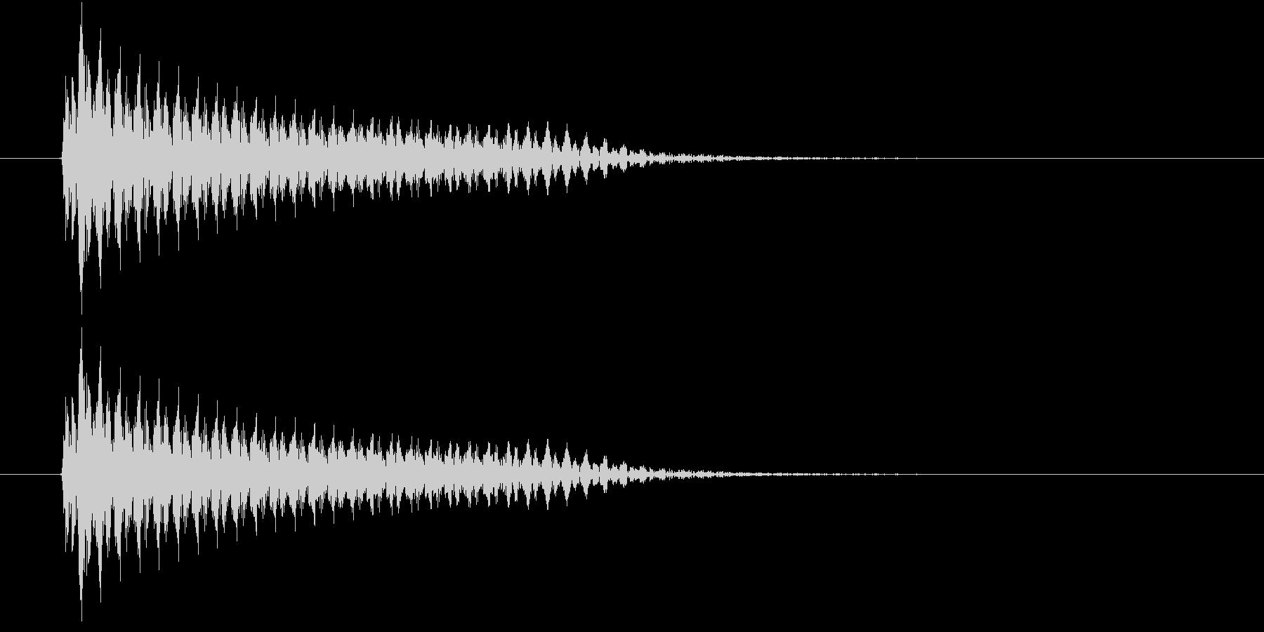 ビーム(ビームレーザー)の未再生の波形