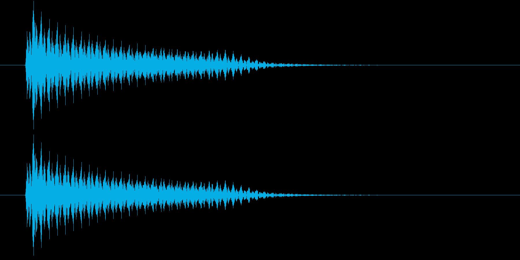 ビーム(ビームレーザー)の再生済みの波形