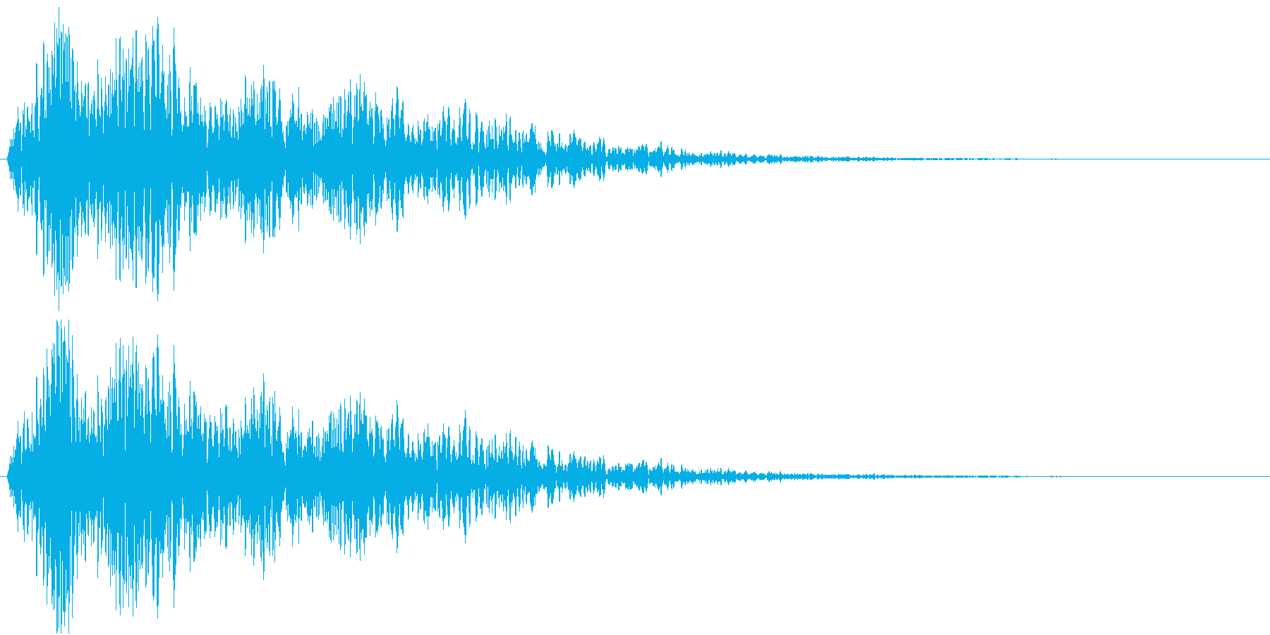 エフェクティブな効果音です。の再生済みの波形