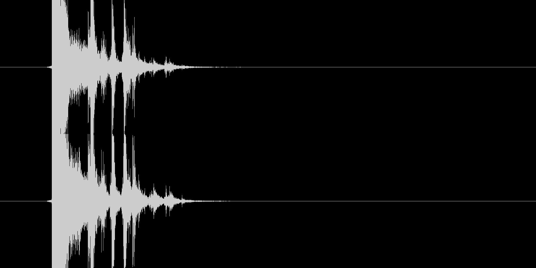 ガラスが割れる音(小)の未再生の波形