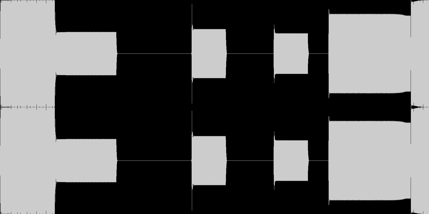 3 PTN 1 アラーム音(ループ仕様)の未再生の波形