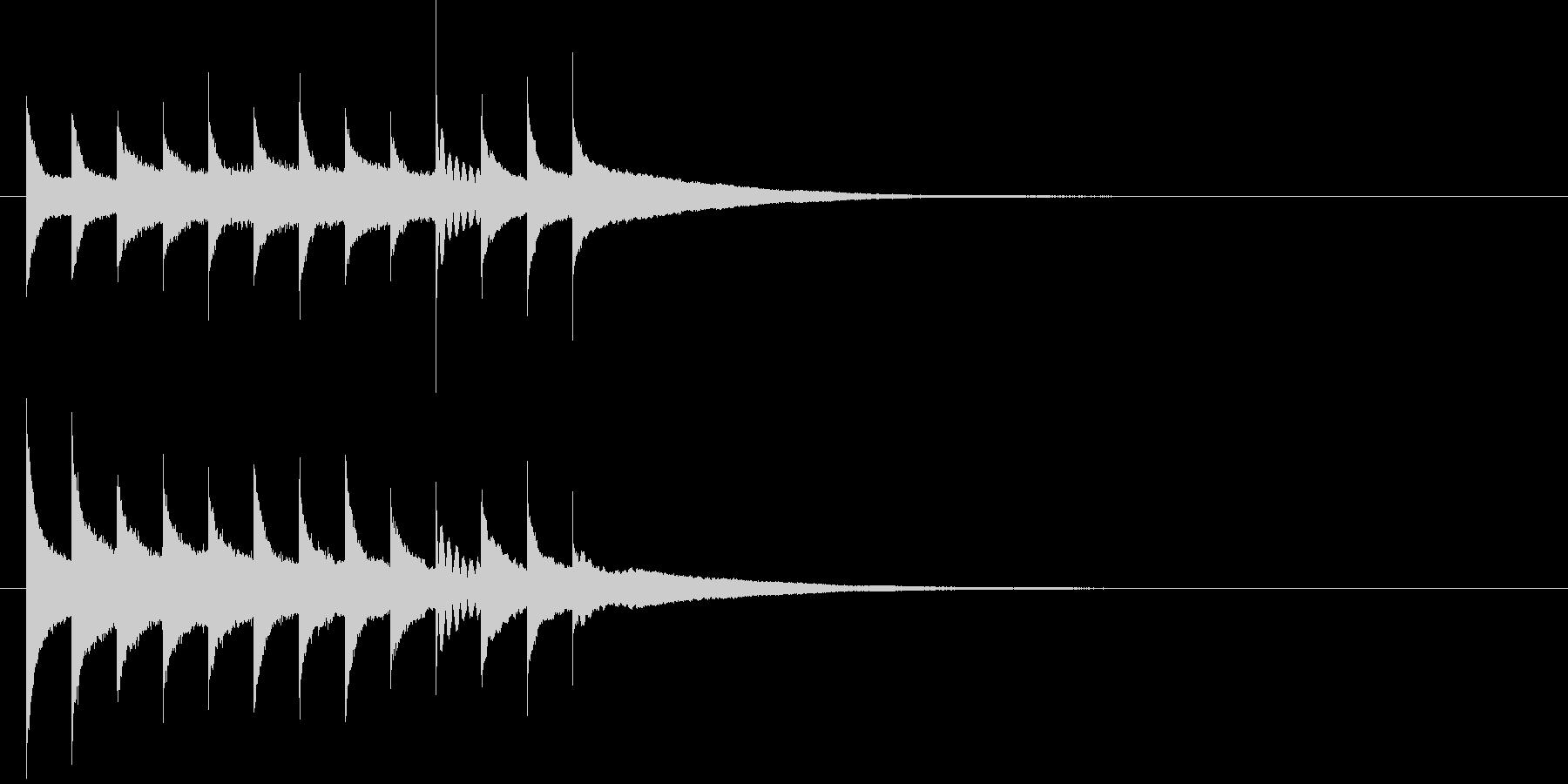 クリスマスに合うグロッケンのジングルの未再生の波形