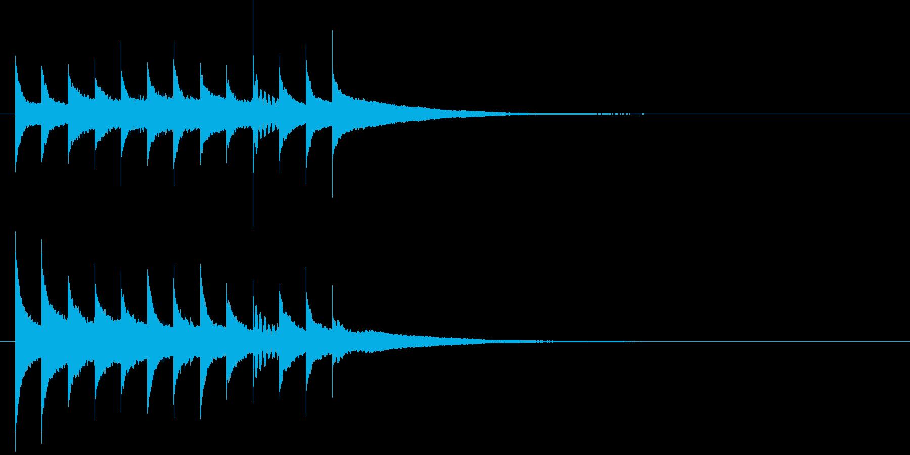クリスマスに合うグロッケンのジングルの再生済みの波形