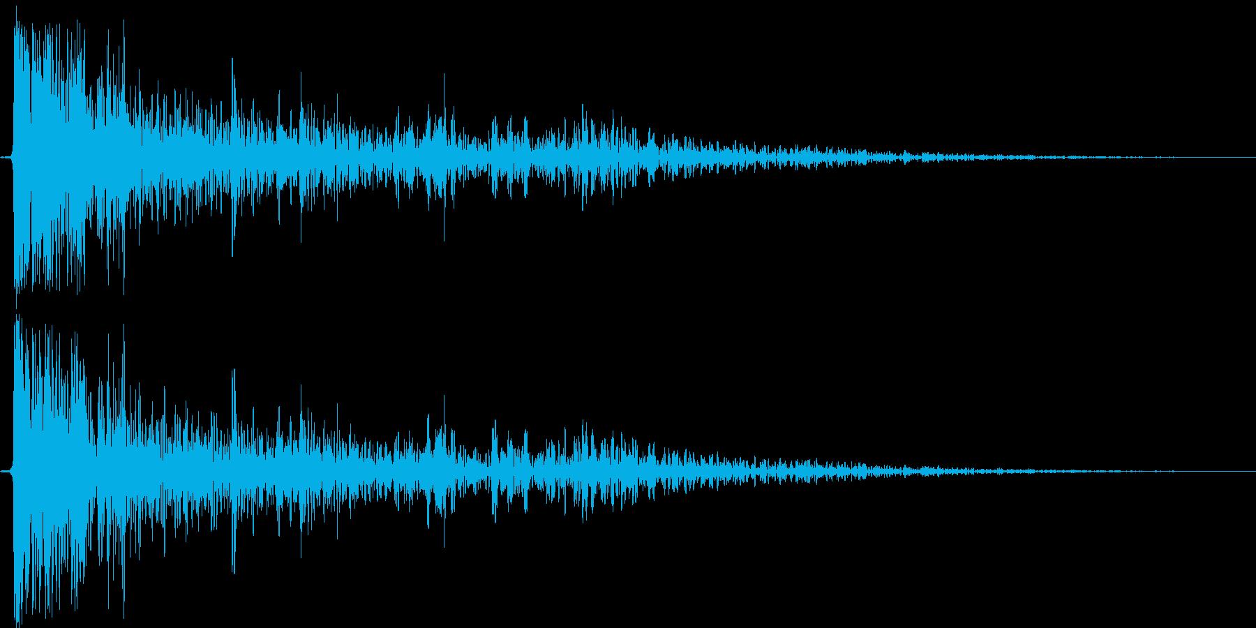 ドラムカンが倒れるの再生済みの波形