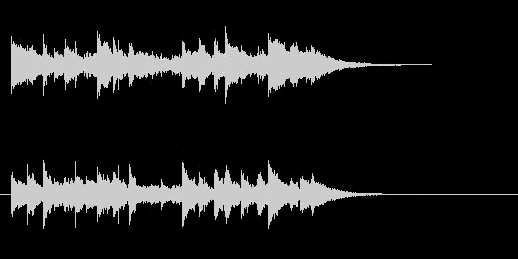 ほのぼのジングルの未再生の波形
