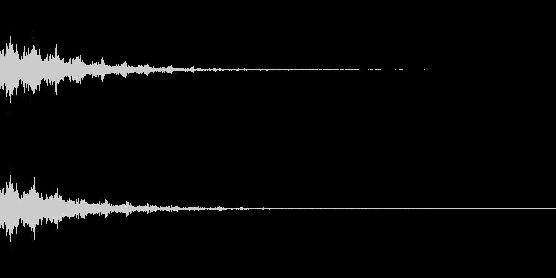 ゲーム効果音_決定の未再生の波形