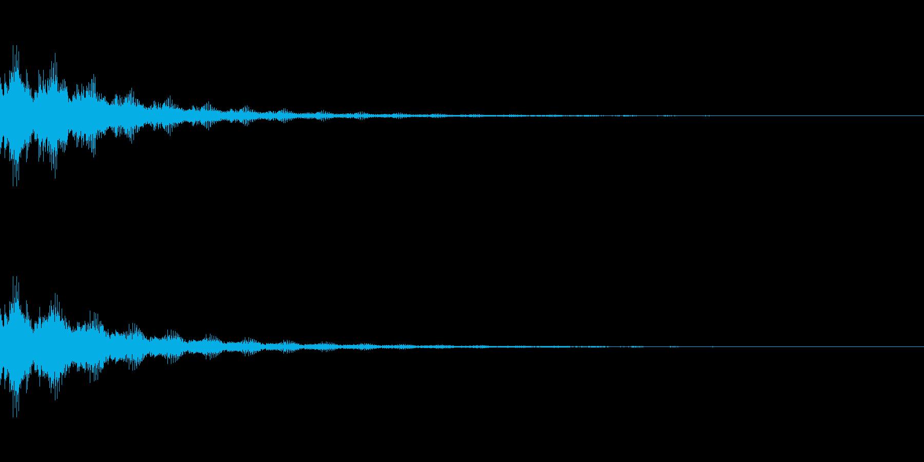 ゲーム効果音_決定の再生済みの波形