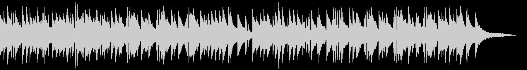 落ち着いた雰囲気のジャズピアノソロの未再生の波形