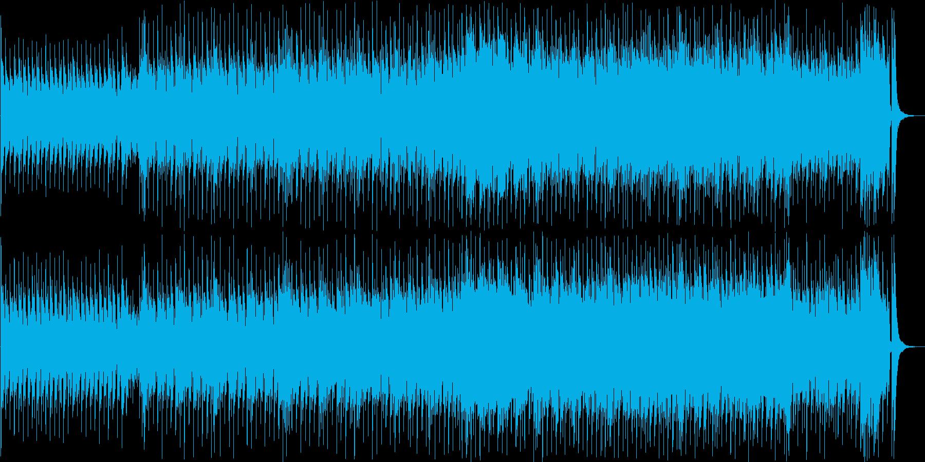 ピアノがメインの楽しい映像に合うハウスの再生済みの波形