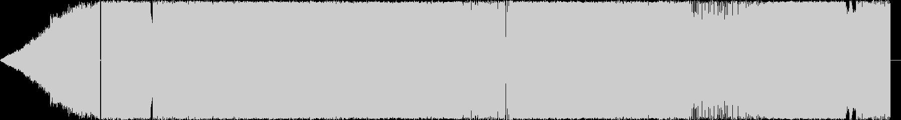 疾走感あるアップテンポハードロックの未再生の波形