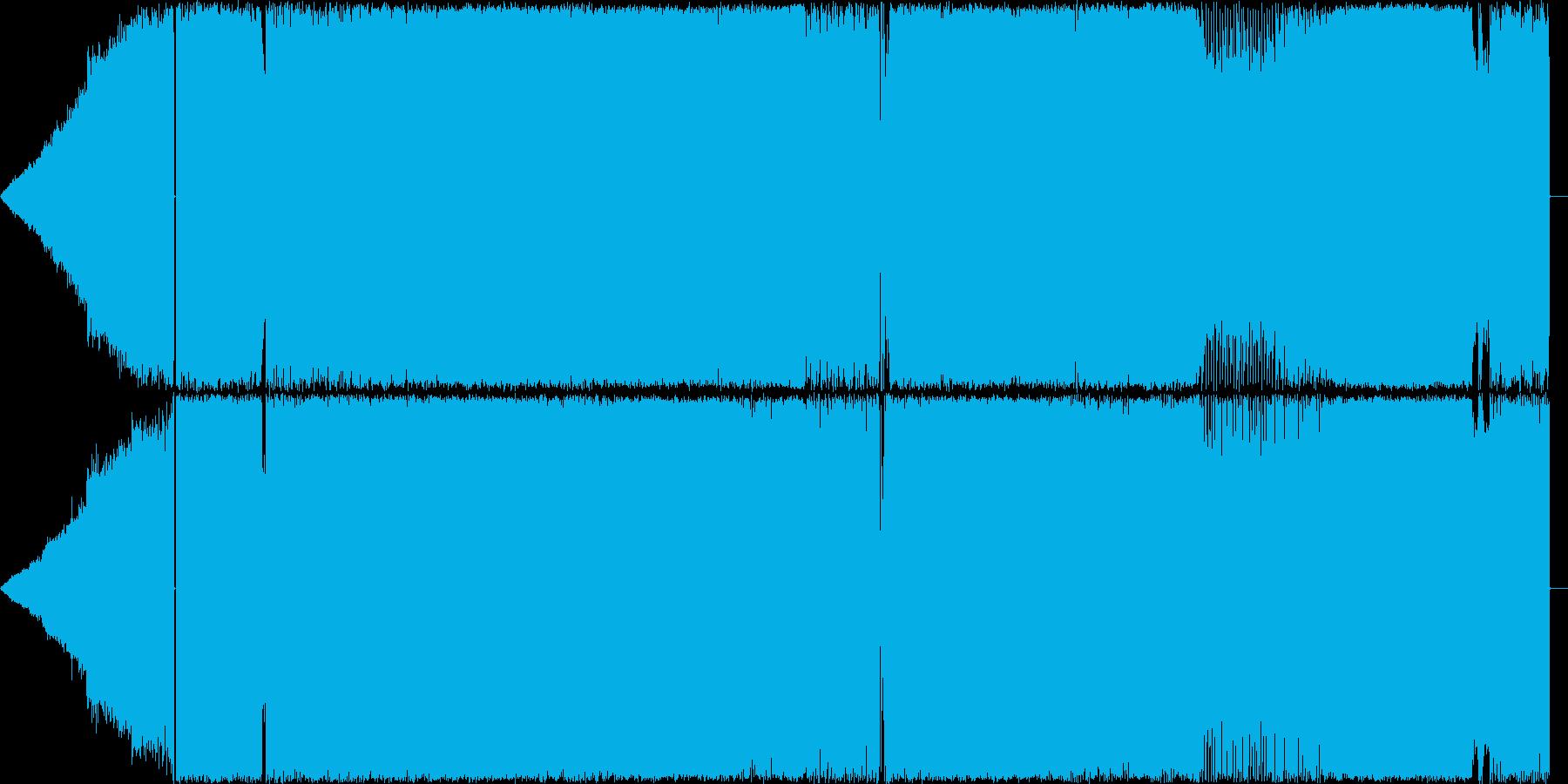 エレキギター,アップテンポハードロックの再生済みの波形