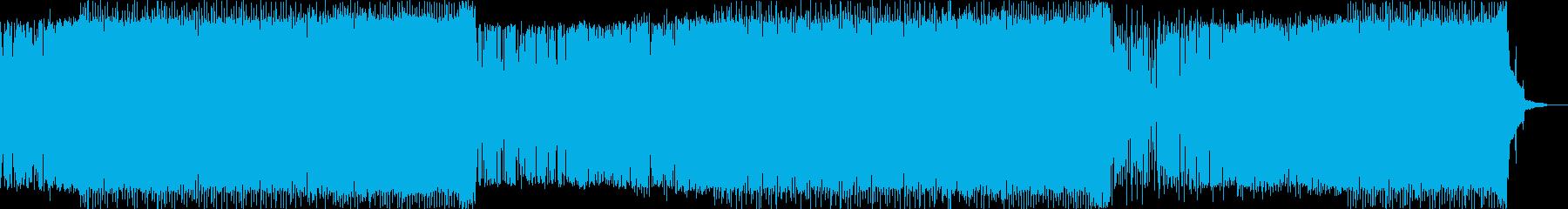 ノリの良いフュージョンダンスミュージックの再生済みの波形