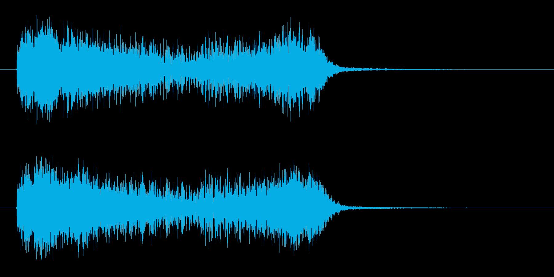 タイムスリップなどのファンタジーSEの再生済みの波形