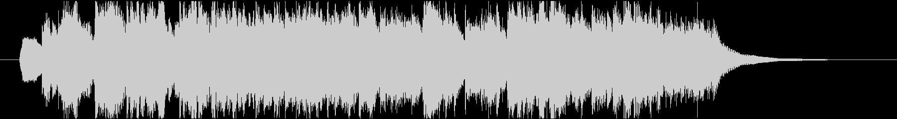 シンセストリングスのポップなジングルの未再生の波形