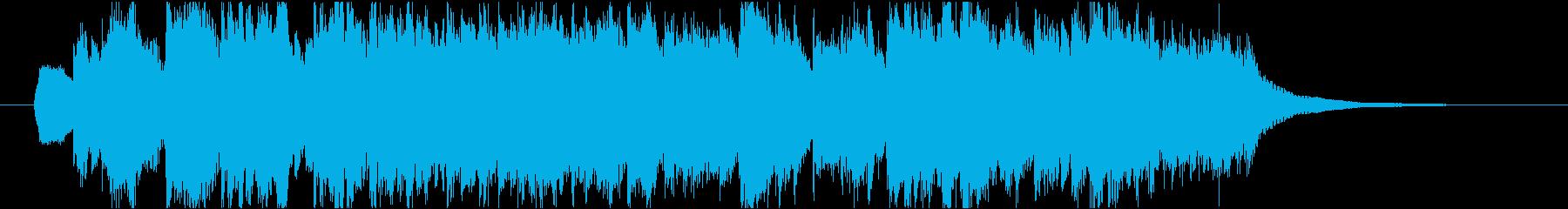 シンセストリングスのポップなジングルの再生済みの波形