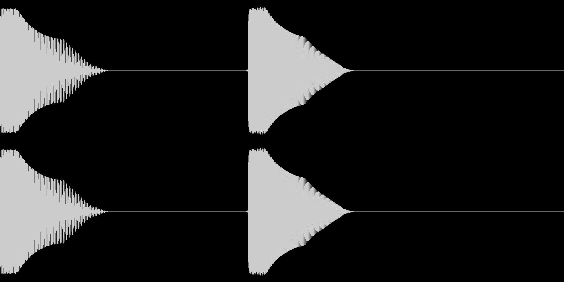 カリッとしたタッチ音、カーソル音です。の未再生の波形