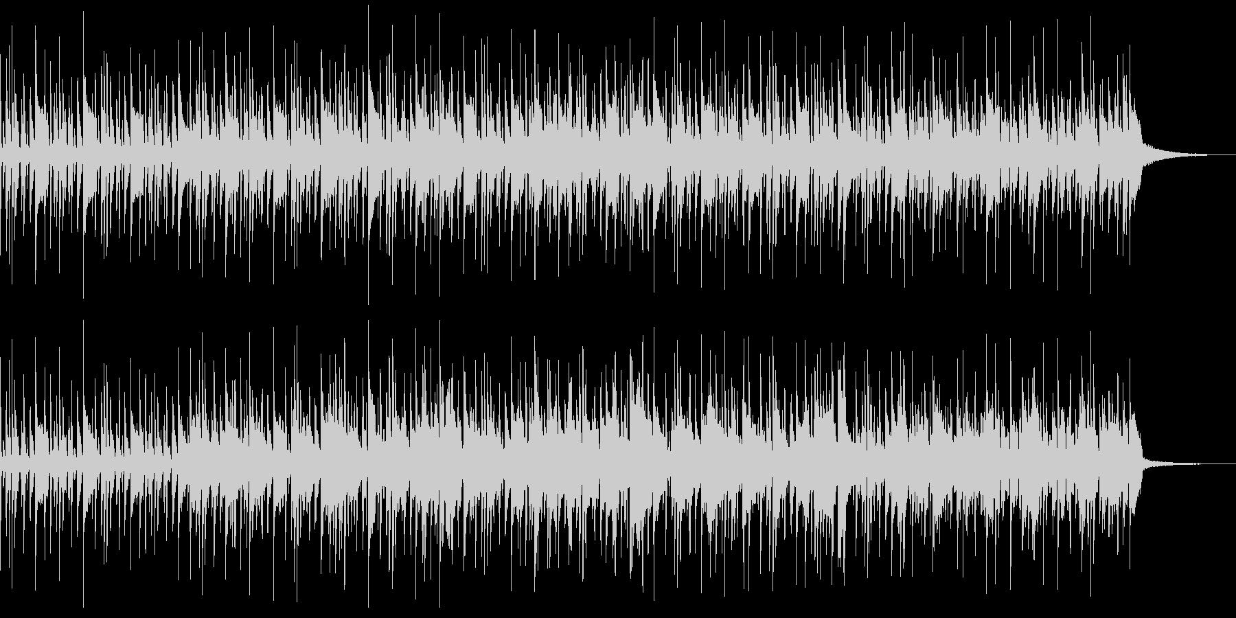 アコギとドラムだけのシンプルで軽快な曲の未再生の波形