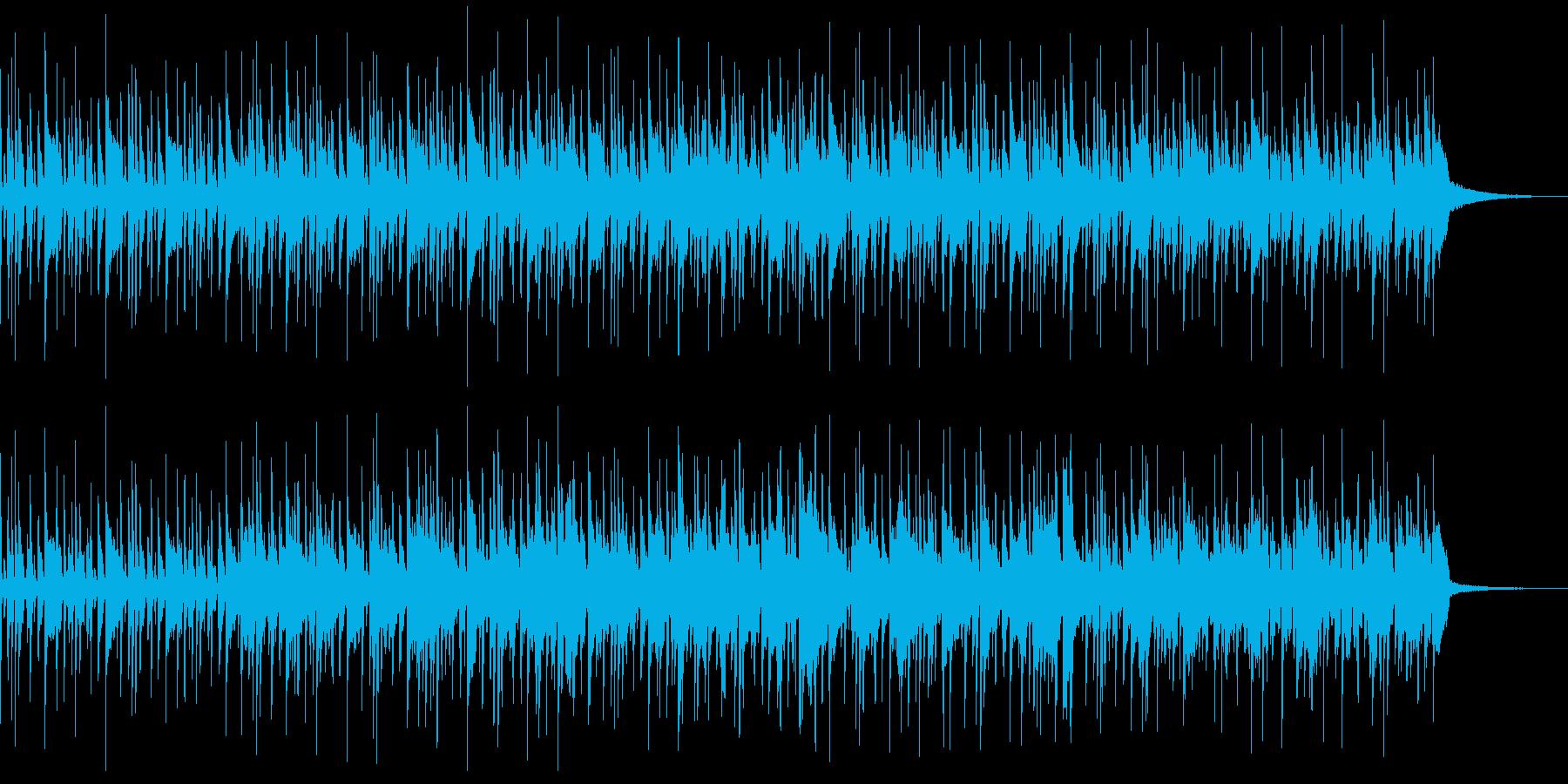 アコギとドラムだけのシンプルで軽快な曲の再生済みの波形