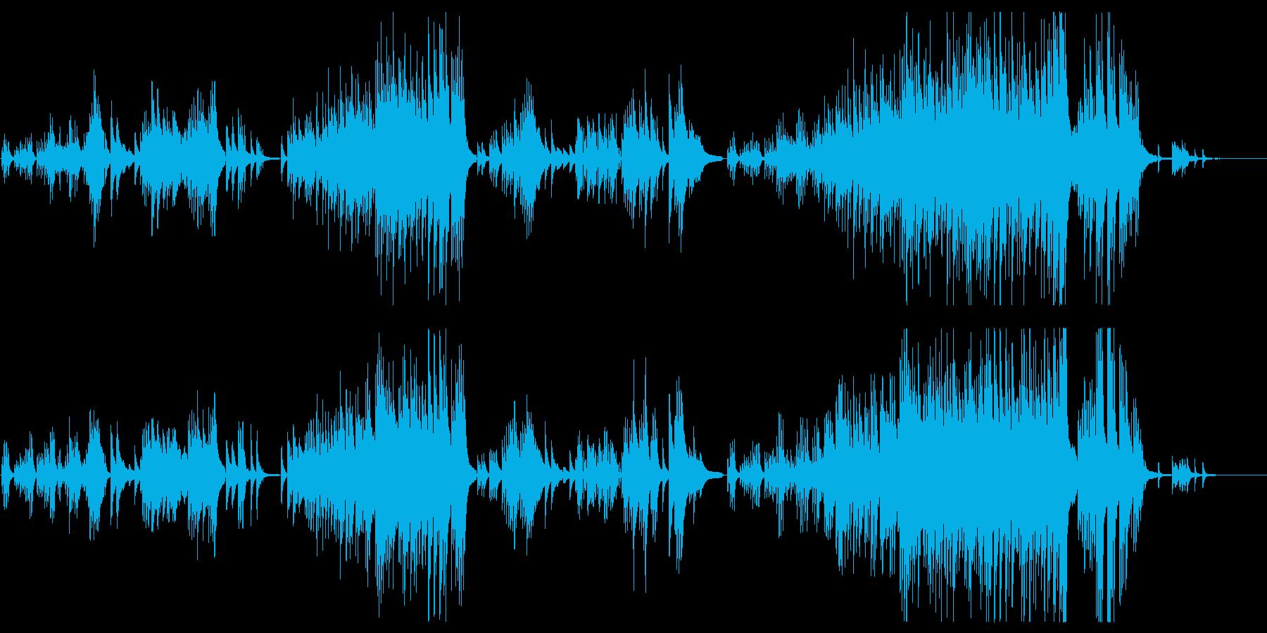 優しく切ないピアノ曲の再生済みの波形