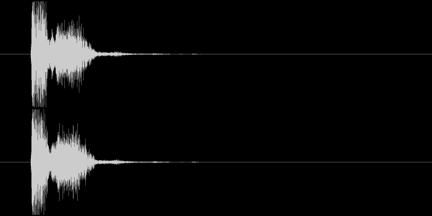 SF系の銃撃音の未再生の波形