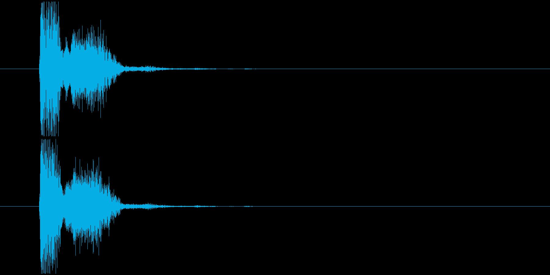 SF系の銃撃音の再生済みの波形