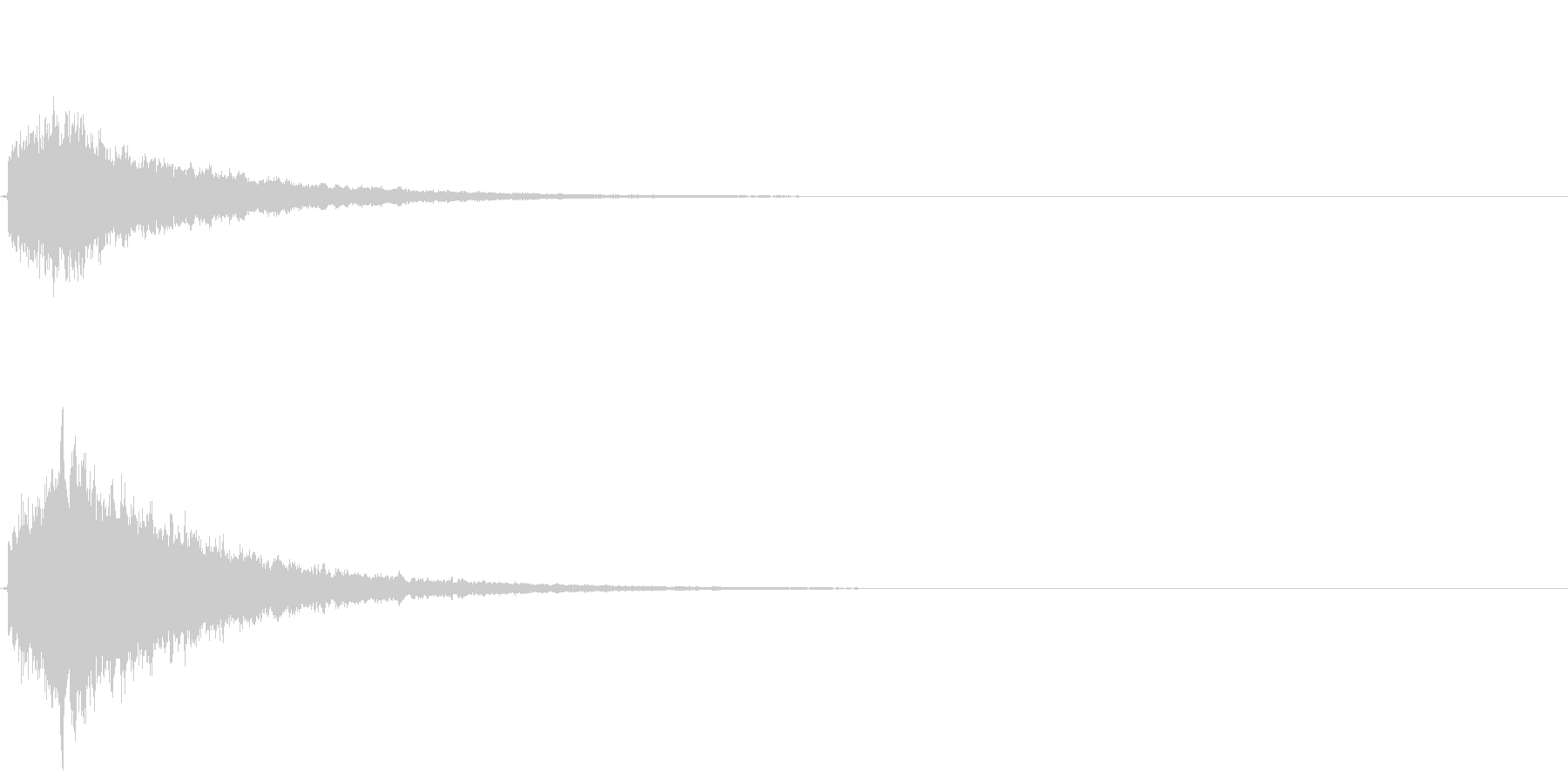 キラーン(決定音やテロップに)の未再生の波形
