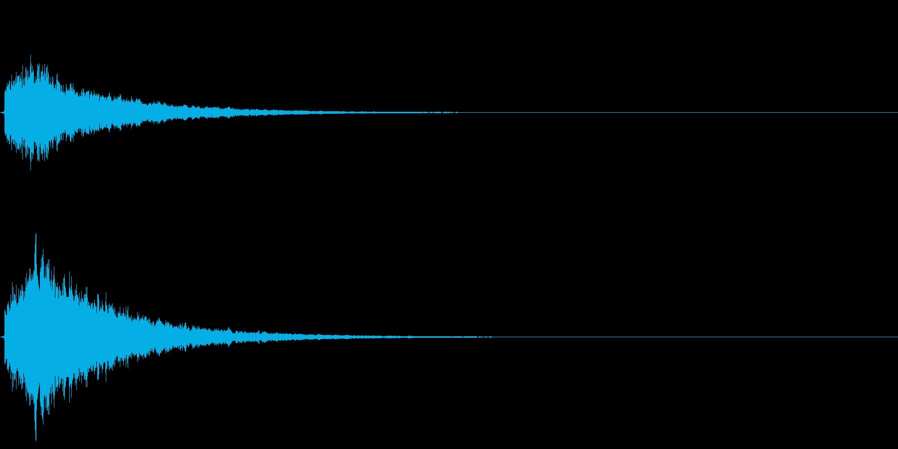 キラーン(決定音やテロップに)の再生済みの波形