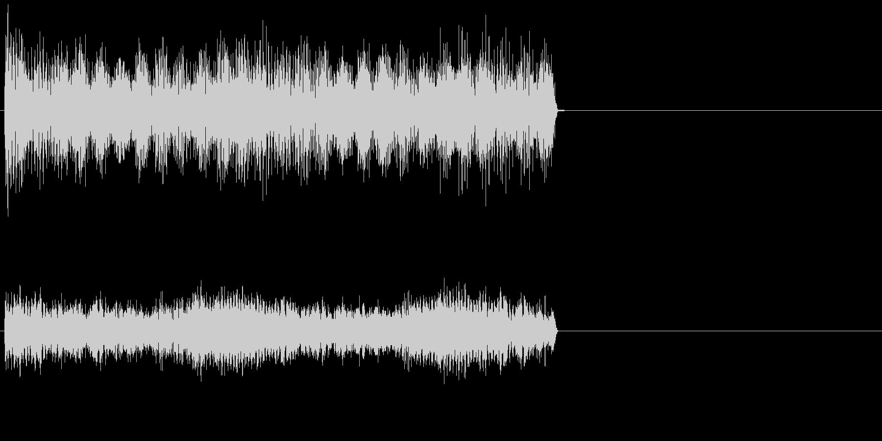 ダーン/恐怖、ホラーなオルガンの効果音の未再生の波形