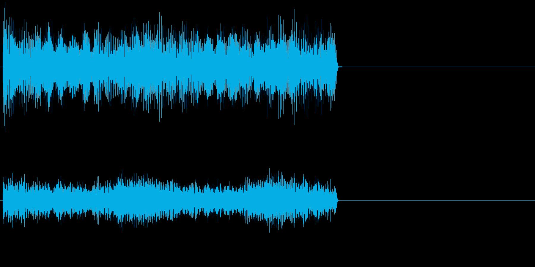 ダーン/恐怖、ホラーなオルガンの効果音の再生済みの波形