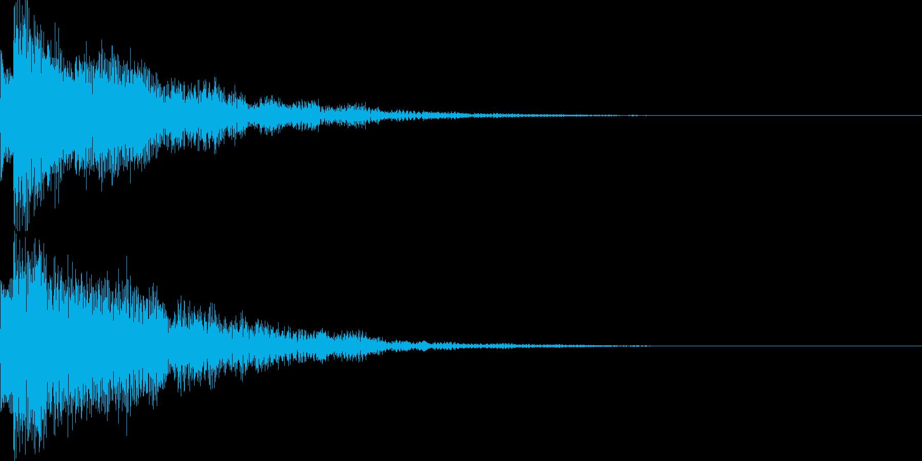 システム音43の再生済みの波形