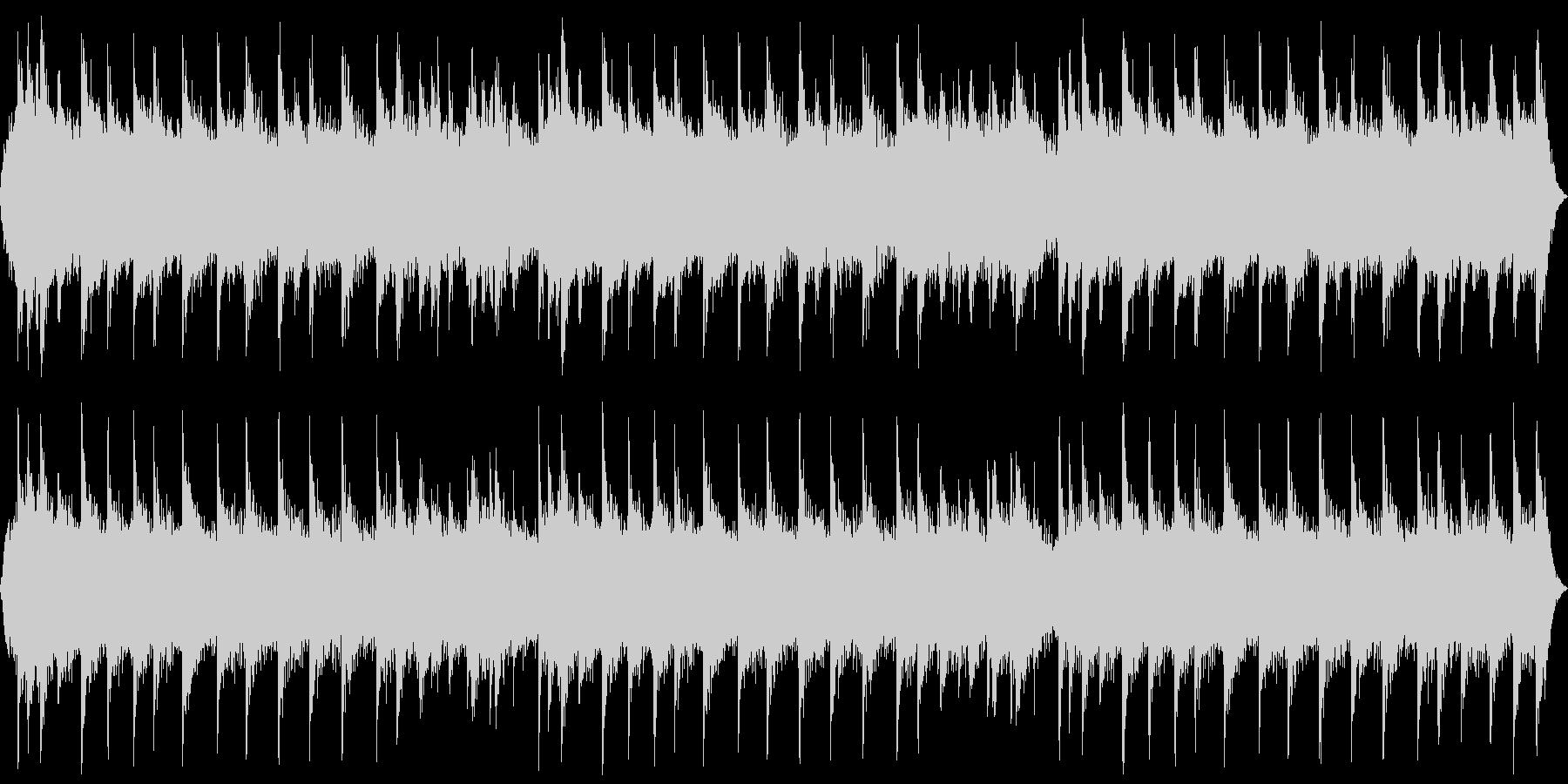 ホラー系の不気味な背景 ピアノと合唱の未再生の波形