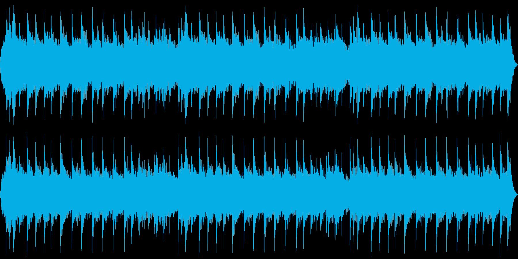 ホラー系の不気味な背景 ピアノと合唱の再生済みの波形