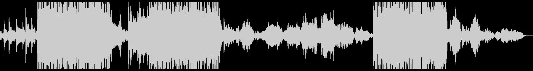 パンチのあるピアノ曲の未再生の波形