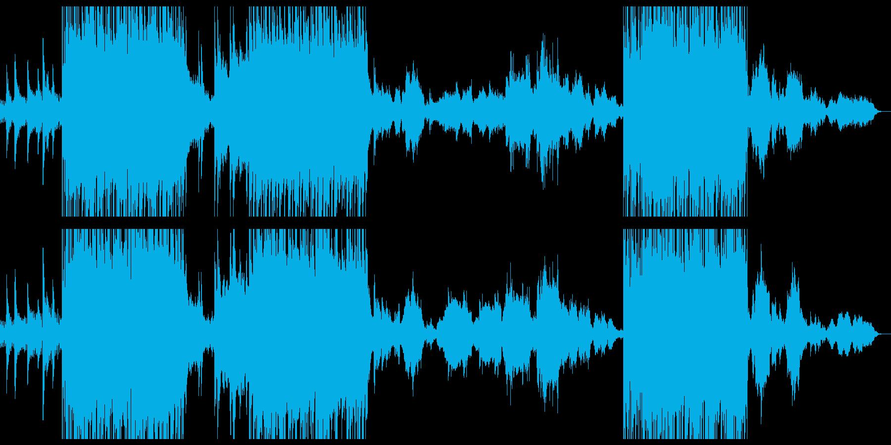パンチのあるピアノ曲の再生済みの波形