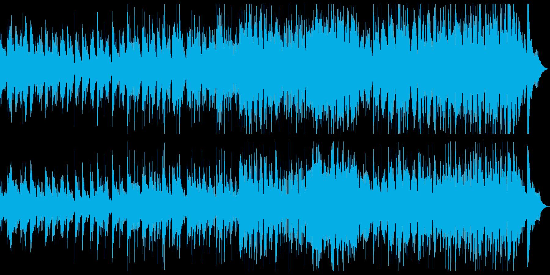 ほのぼのとした雰囲気の「故郷」カラオケの再生済みの波形