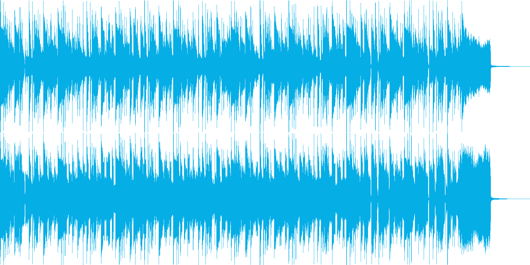 ファンク セッション風 Emの再生済みの波形