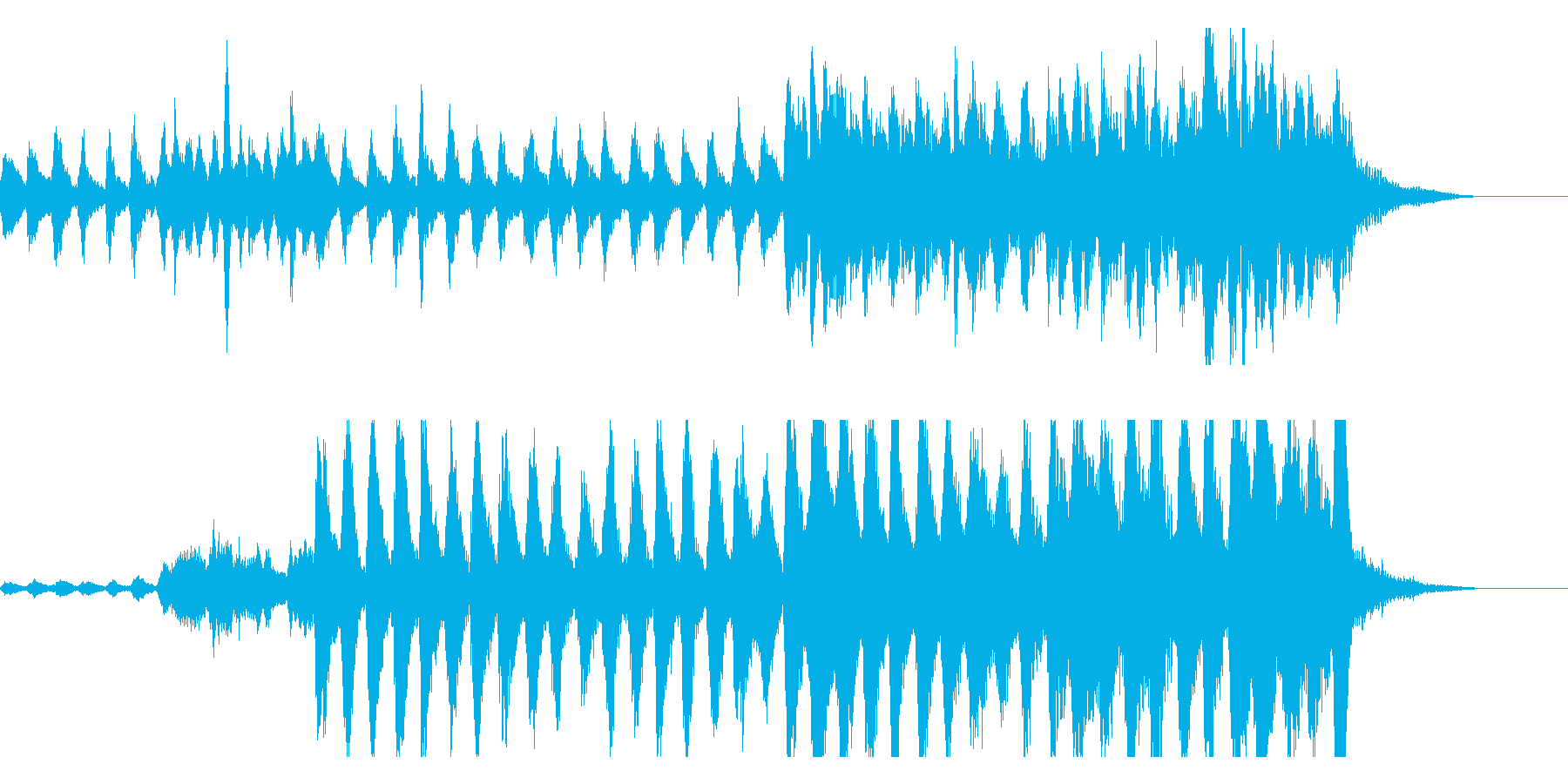ストリングスとハープのバロック風の再生済みの波形