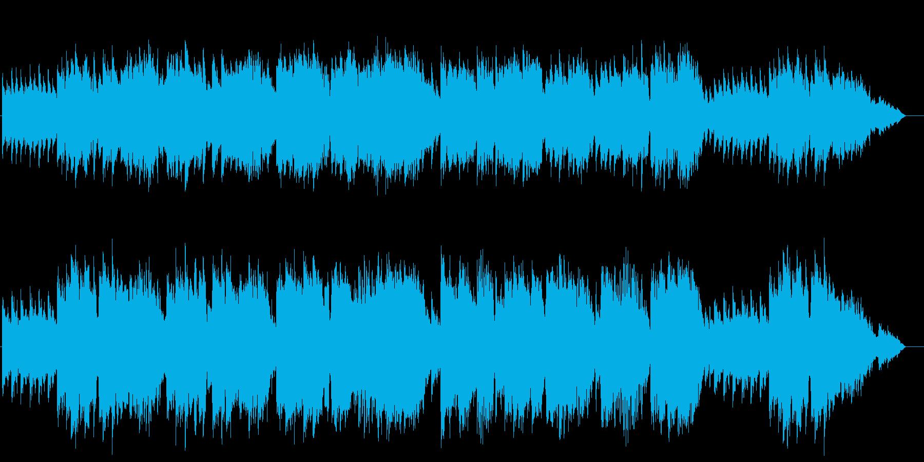 木管楽器とストリングスの風を感じる曲の再生済みの波形