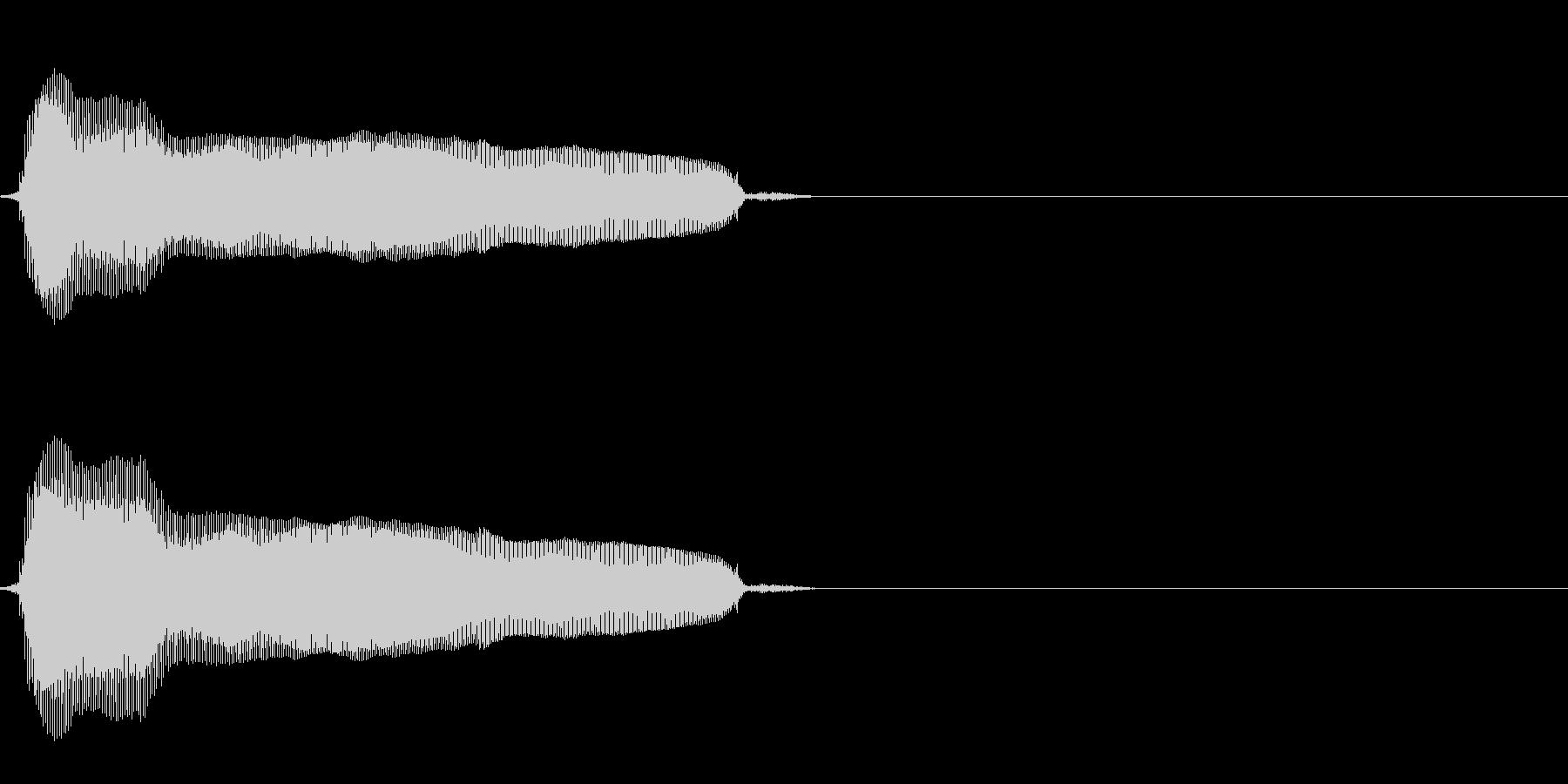猫の鳴き声(比較的癖のない声)の未再生の波形