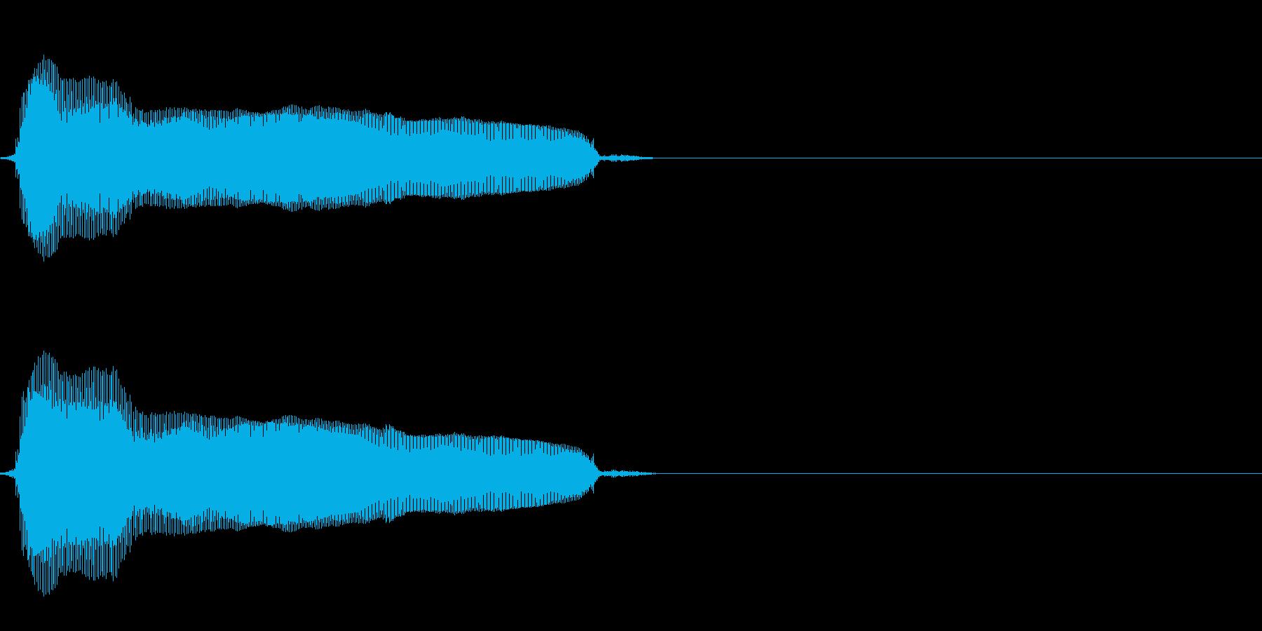 猫の鳴き声(比較的癖のない声)の再生済みの波形