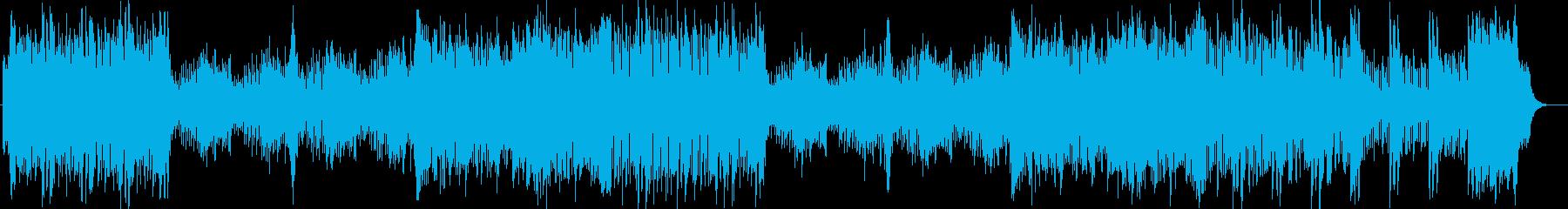 テーマパーク風オーケストラ曲の再生済みの波形