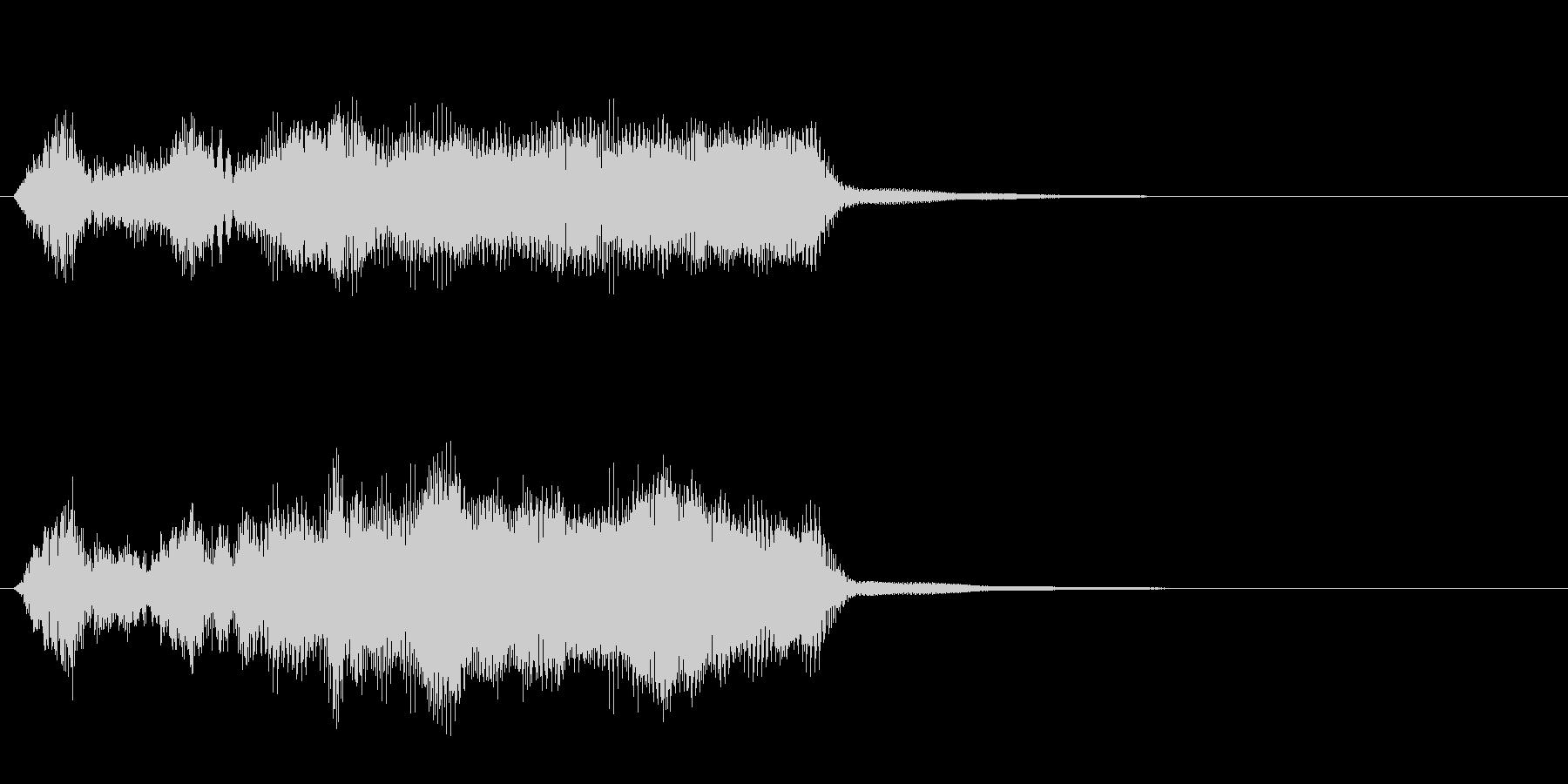 軍隊4 ノーマルカード入手 正解の未再生の波形